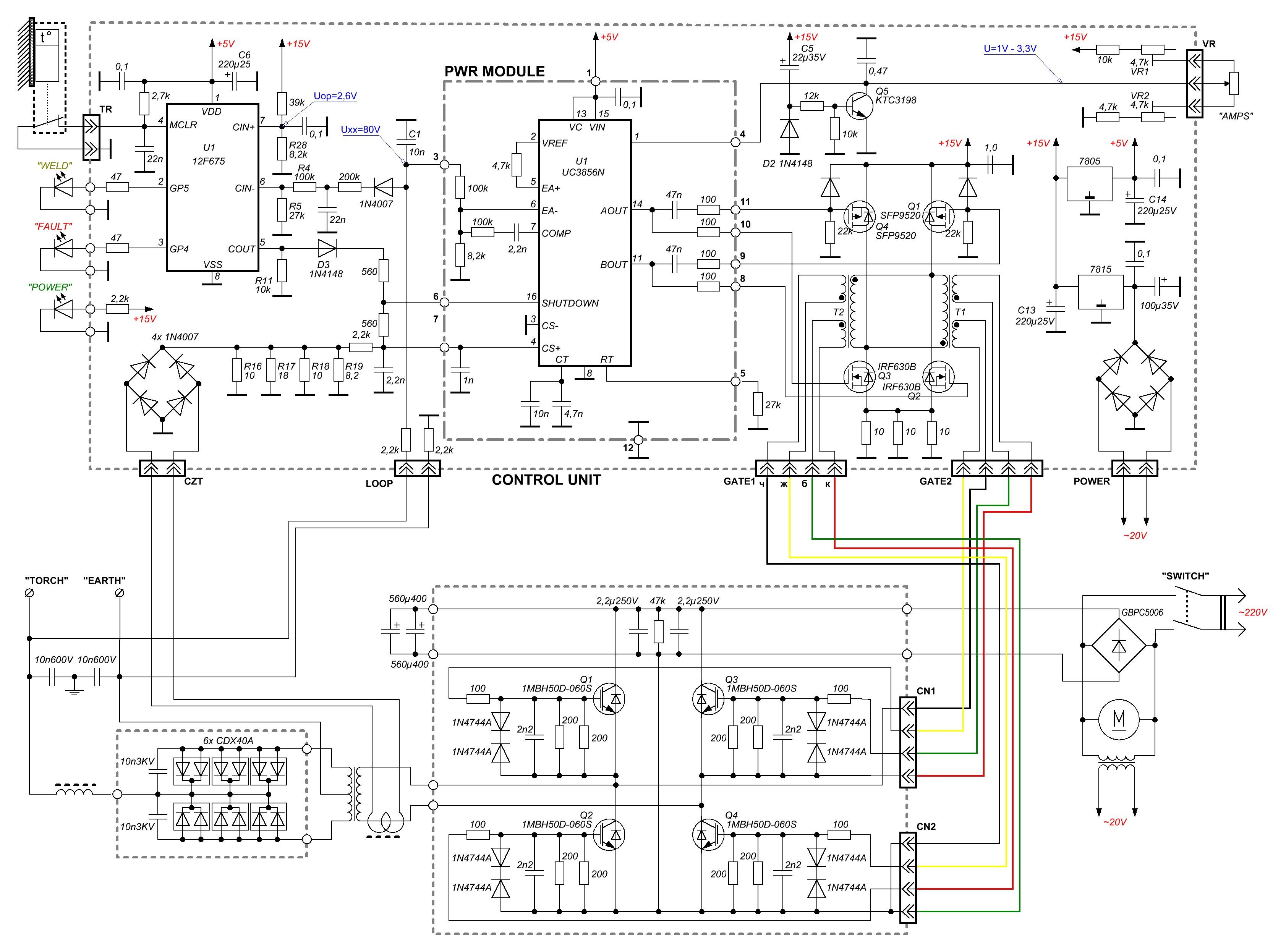 Сварочный инвертор принципиальная схема, каталог схем соединений, скачать схема подключения светодиодов 220в.